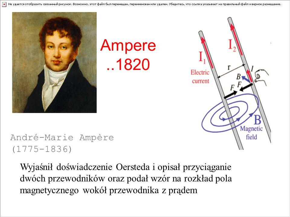 Ampere ..1820 André-Marie Ampère (1775-1836)