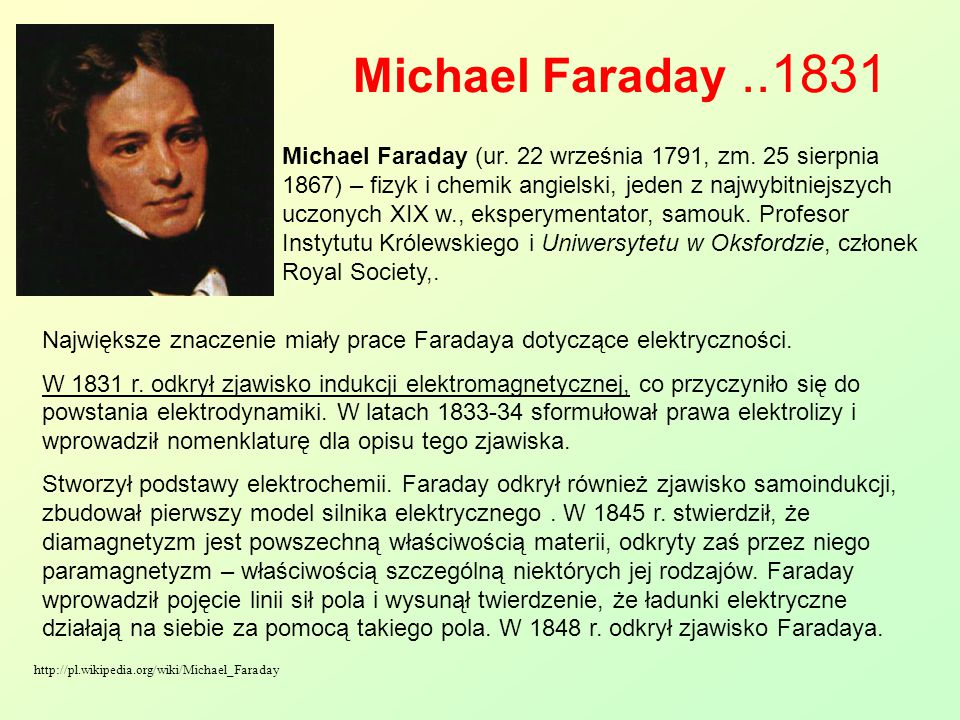 Michael Faraday ..1831