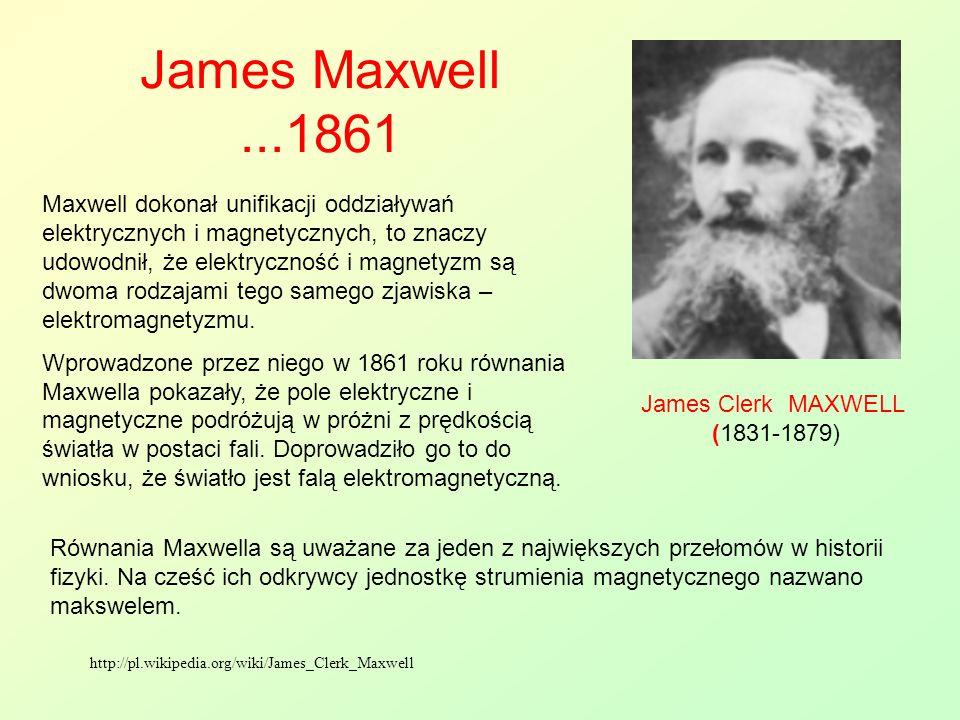 James Maxwell ...1861