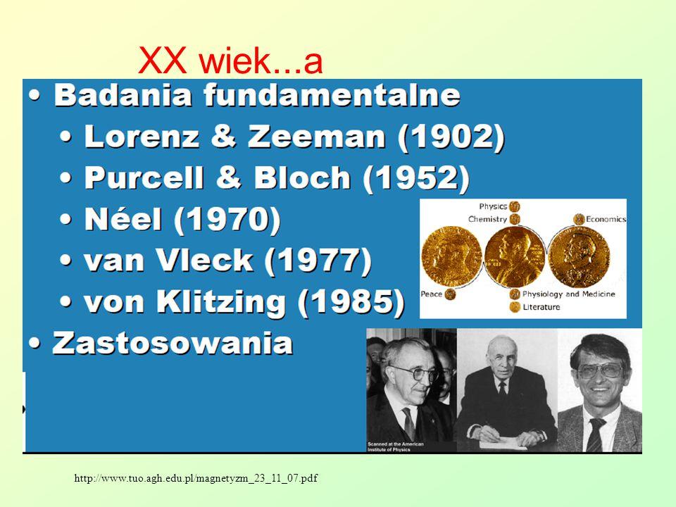 XX wiek...a http://www.tuo.agh.edu.pl/magnetyzm_23_11_07.pdf