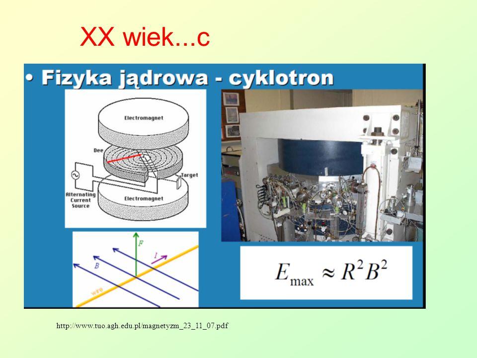 XX wiek...c http://www.tuo.agh.edu.pl/magnetyzm_23_11_07.pdf