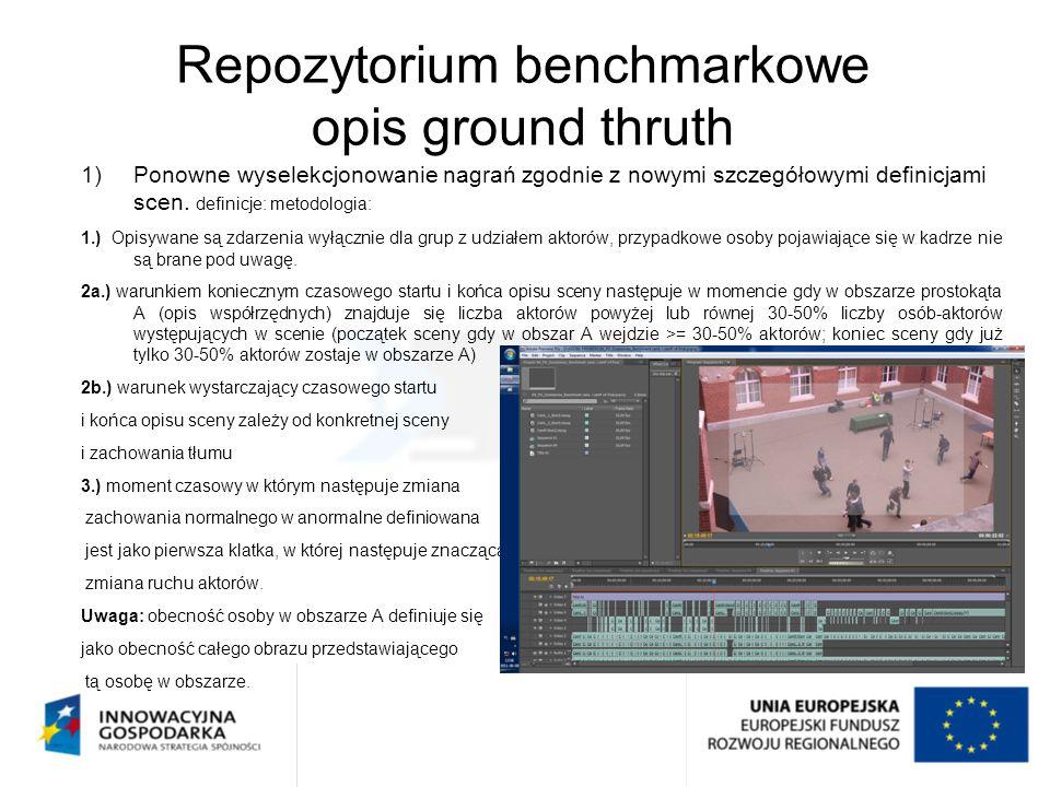 Repozytorium benchmarkowe opis ground thruth