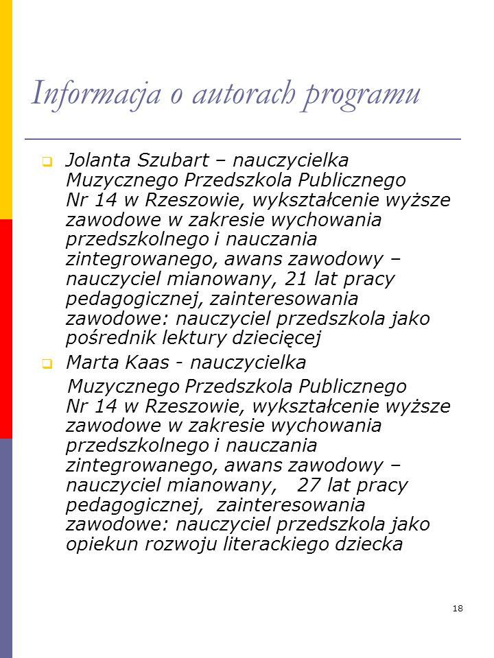 Informacja o autorach programu