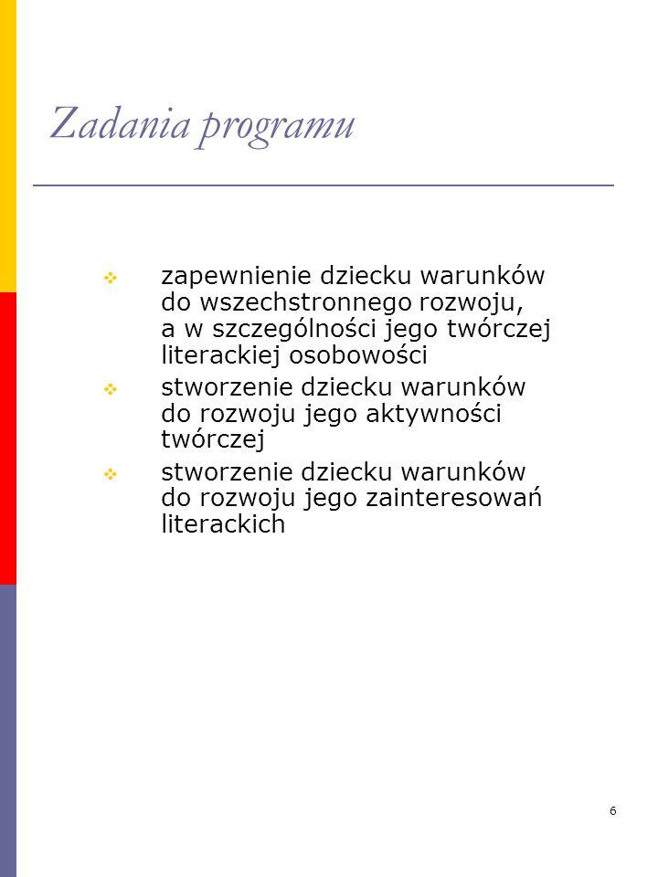 Zadania programu