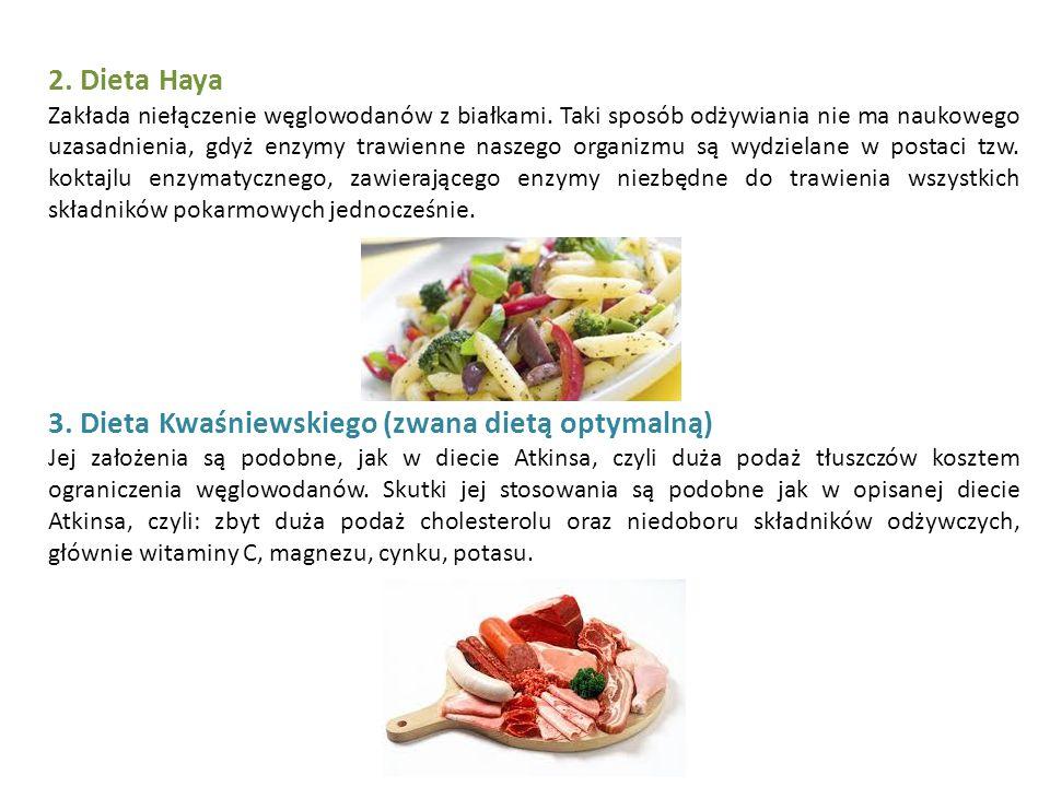 3. Dieta Kwaśniewskiego (zwana dietą optymalną)