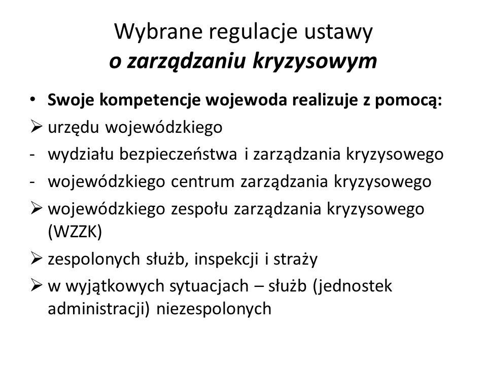 Wybrane regulacje ustawy o zarządzaniu kryzysowym