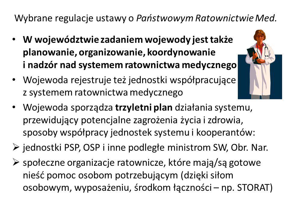 Wybrane regulacje ustawy o Państwowym Ratownictwie Med.