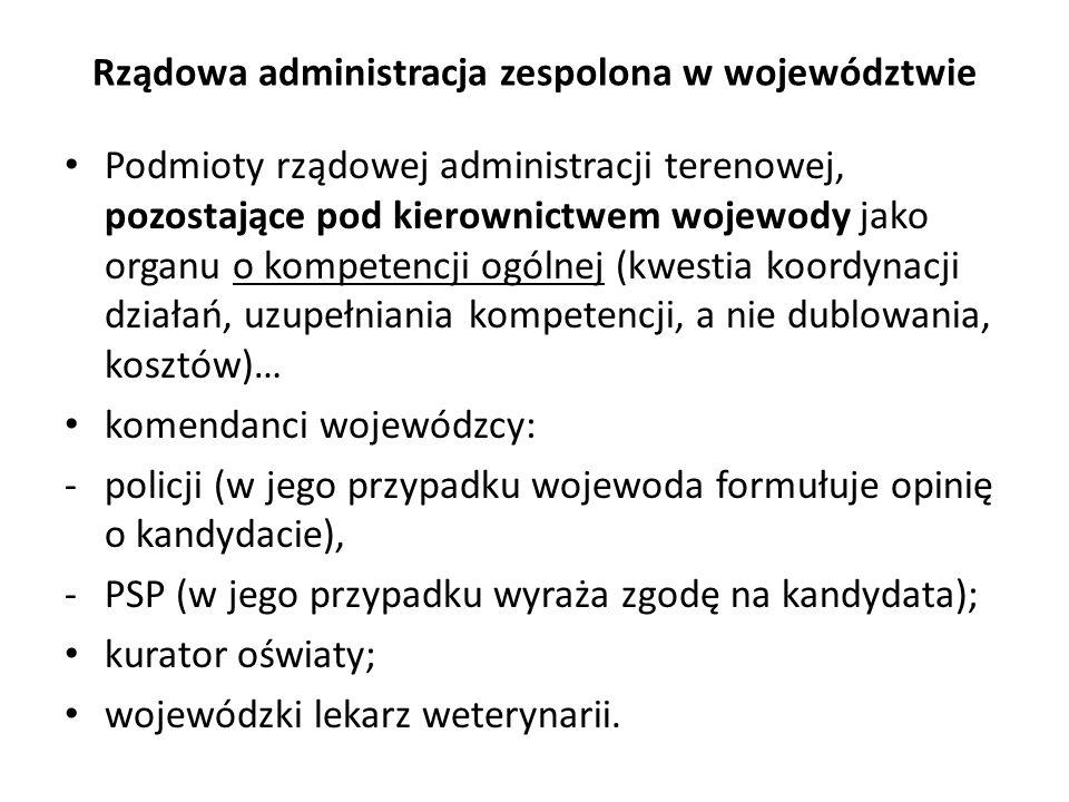 Rządowa administracja zespolona w województwie