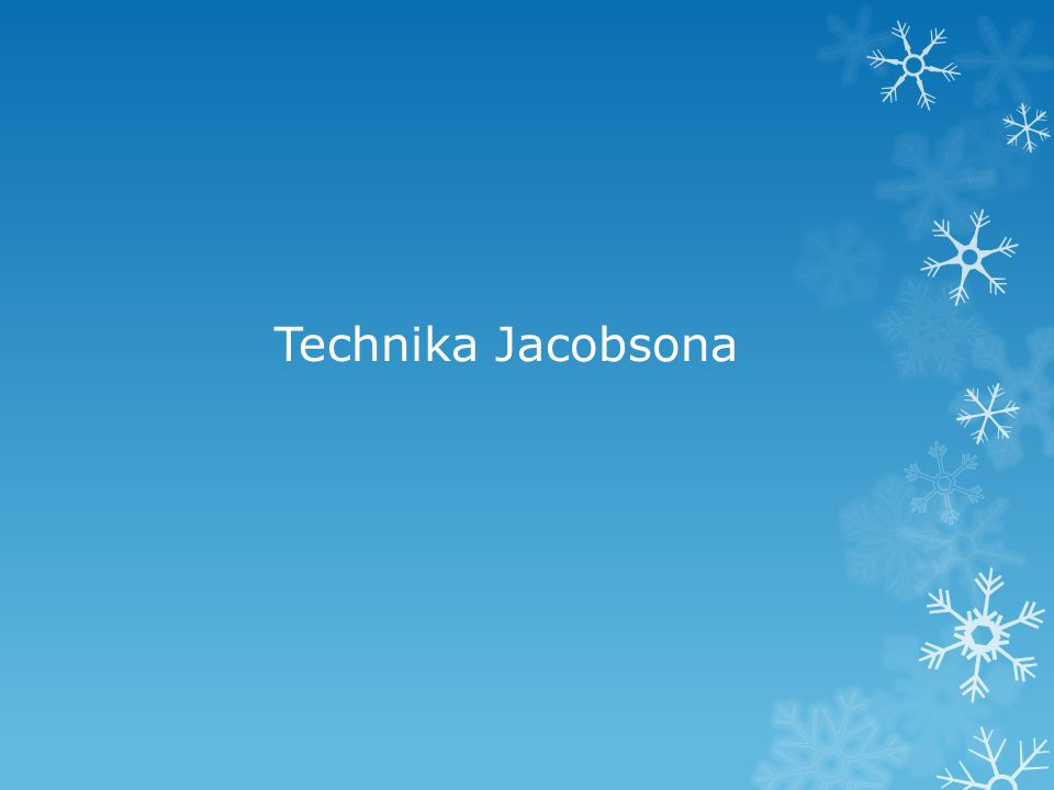 Technika Jacobsona