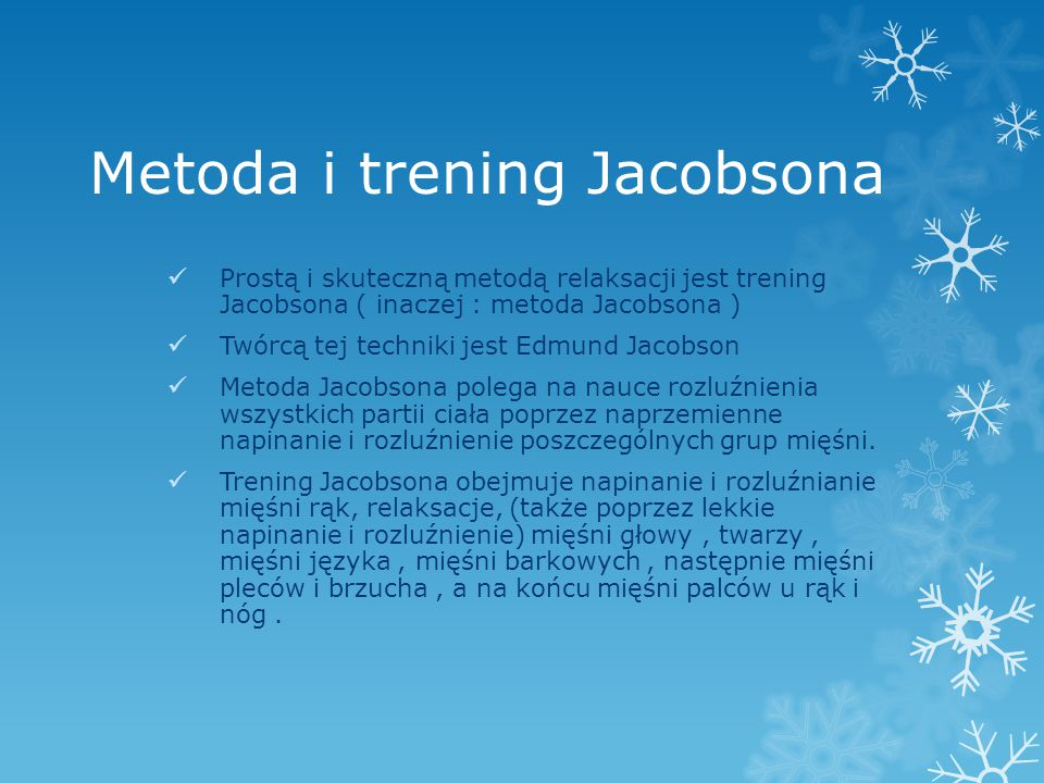 Metoda i trening Jacobsona