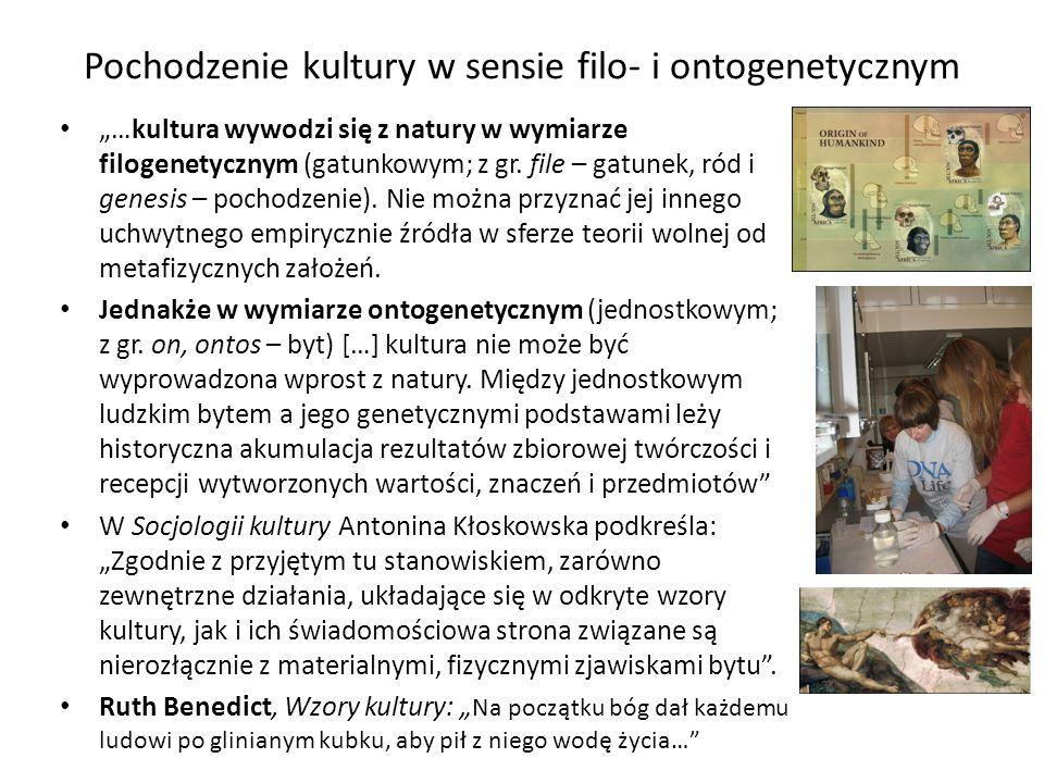 Pochodzenie kultury w sensie filo- i ontogenetycznym