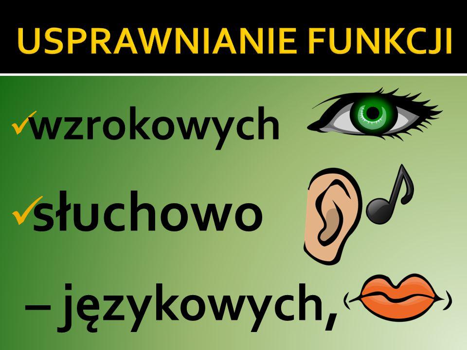 USPRAWNIANIE FUNKCJI wzrokowych słuchowo – językowych,