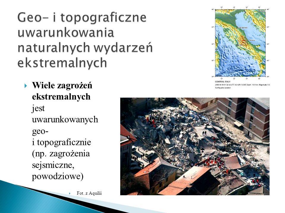 Geo- i topograficzne uwarunkowania naturalnych wydarzeń ekstremalnych
