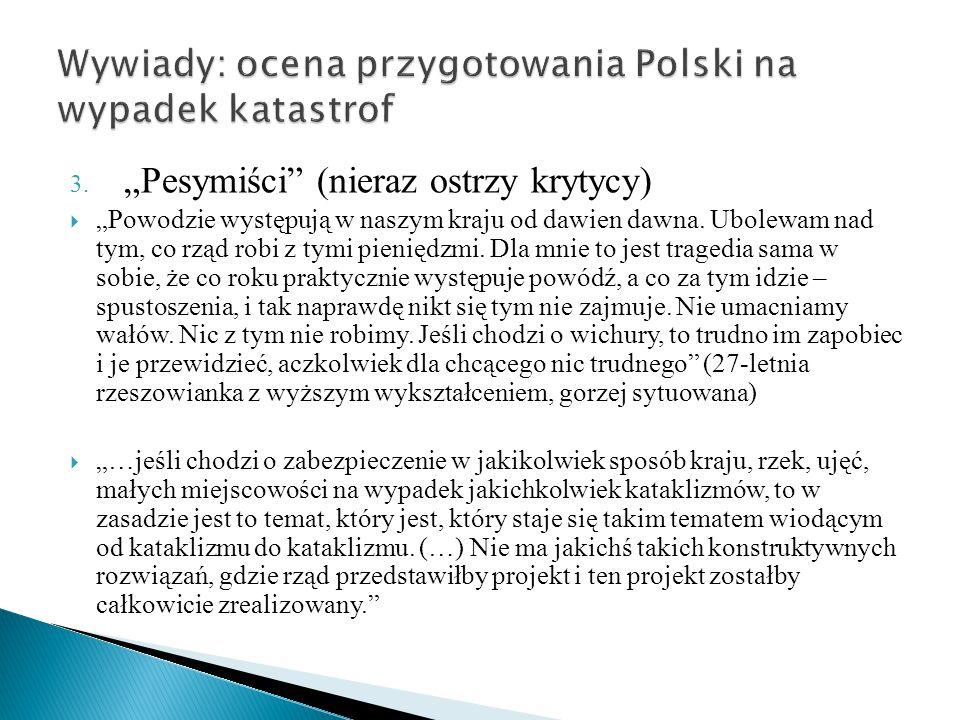 Wywiady: ocena przygotowania Polski na wypadek katastrof