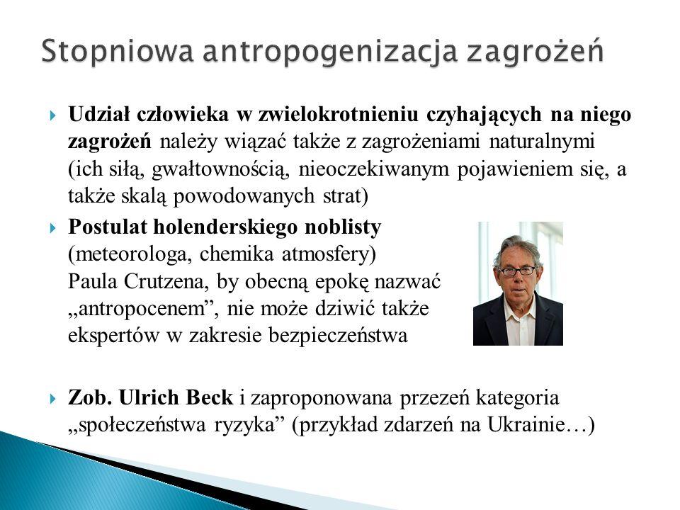 Stopniowa antropogenizacja zagrożeń