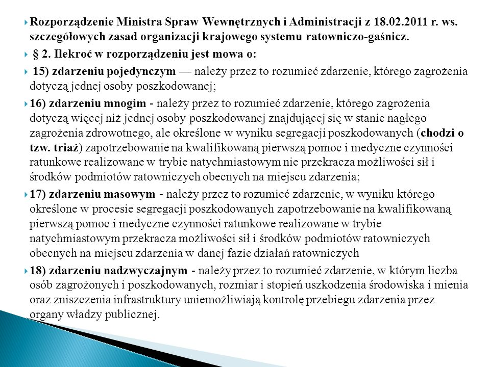 Rozporządzenie Ministra Spraw Wewnętrznych i Administracji z 18. 02