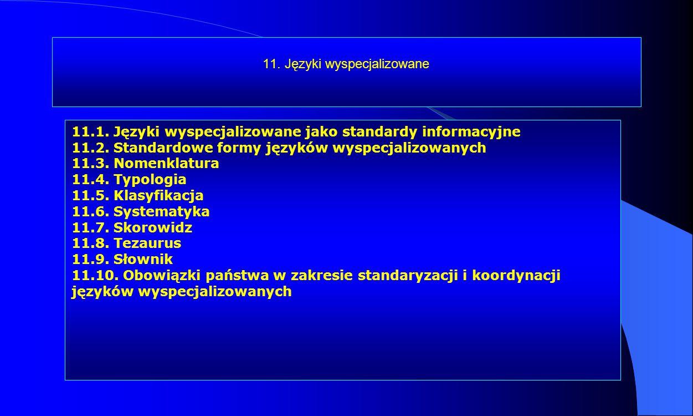 11. Języki wyspecjalizowane