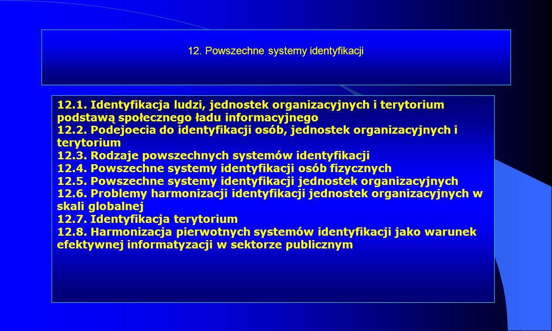 12. Powszechne systemy identyfikacji