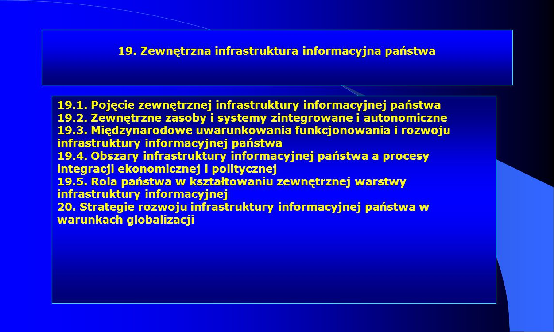 19. Zewnętrzna infrastruktura informacyjna państwa