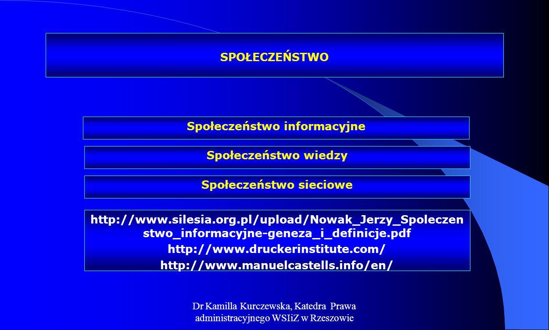 Społeczeństwo informacyjne Społeczeństwo sieciowe