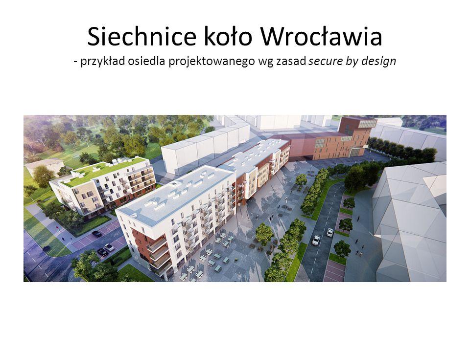 Siechnice koło Wrocławia - przykład osiedla projektowanego wg zasad secure by design