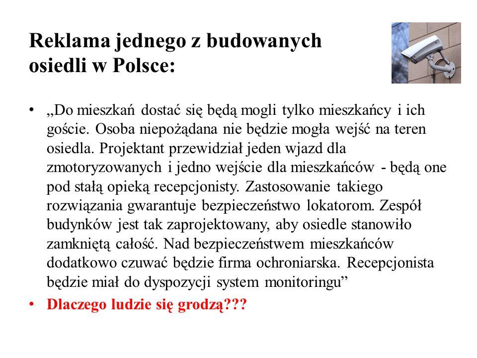 Reklama jednego z budowanych osiedli w Polsce: