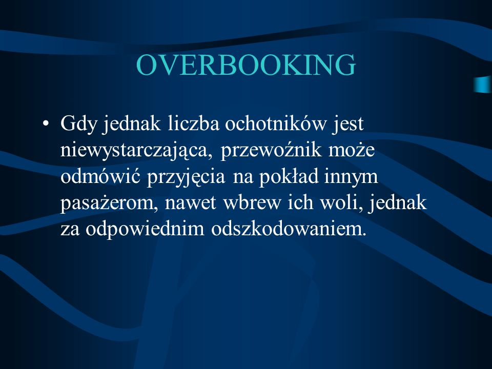 OVERBOOKING