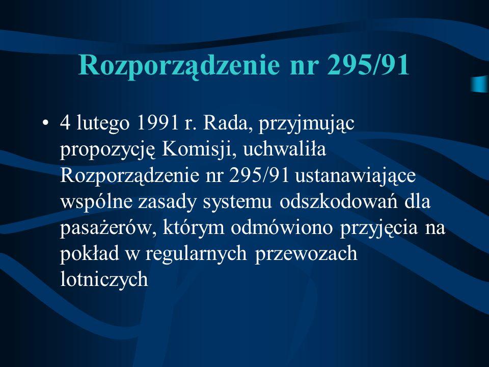 Rozporządzenie nr 295/91