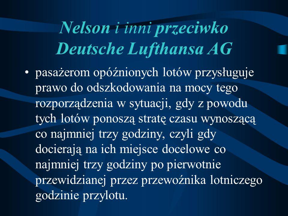 Nelson i inni przeciwko Deutsche Lufthansa AG
