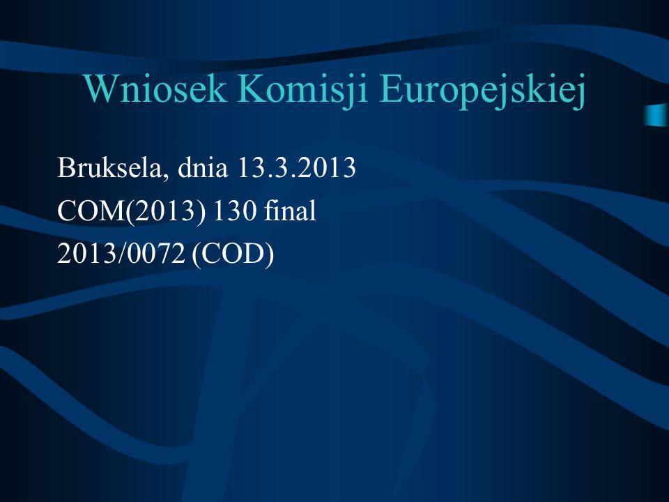 Wniosek Komisji Europejskiej