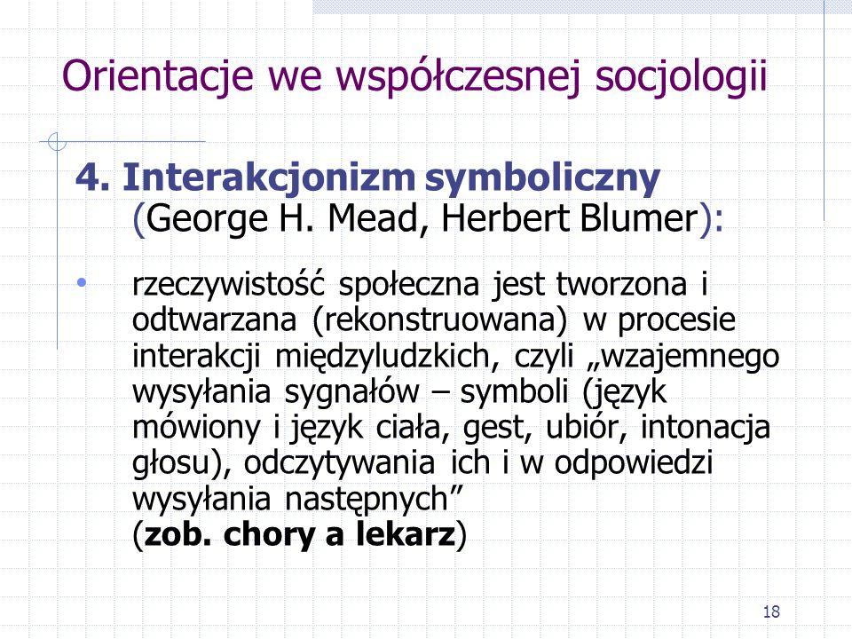 Orientacje we współczesnej socjologii