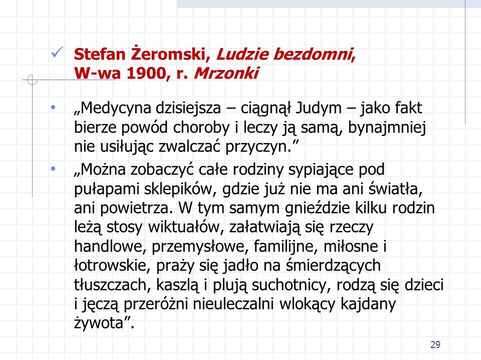 Stefan Żeromski, Ludzie bezdomni, W-wa 1900, r. Mrzonki