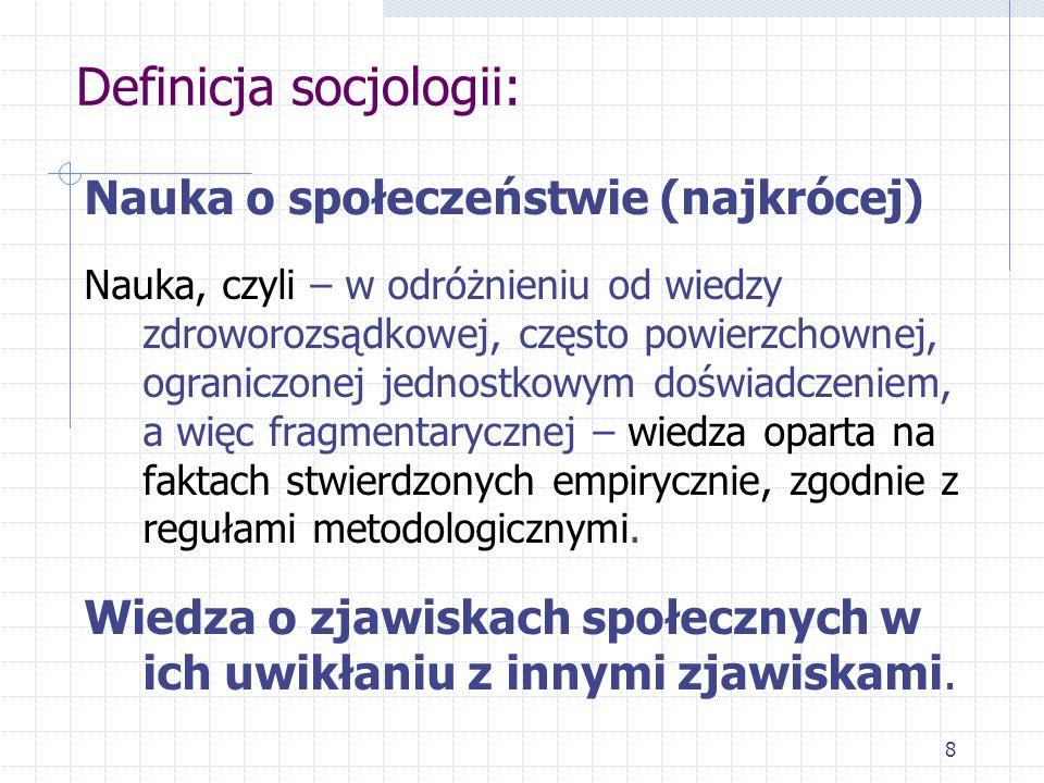 Definicja socjologii: