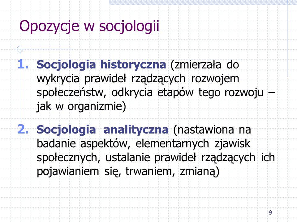 Opozycje w socjologii