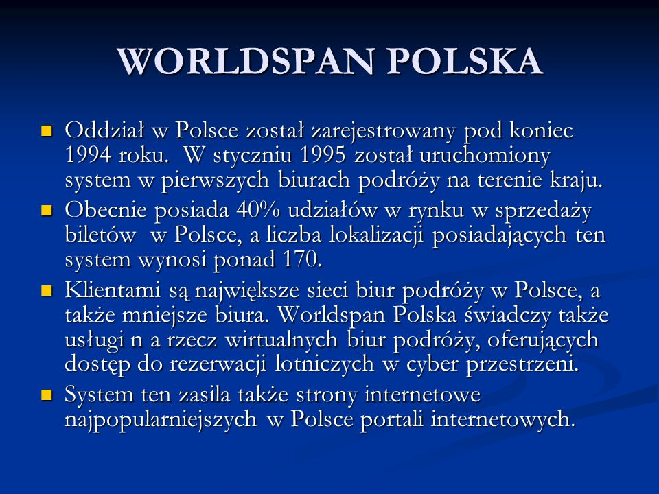 WORLDSPAN POLSKA
