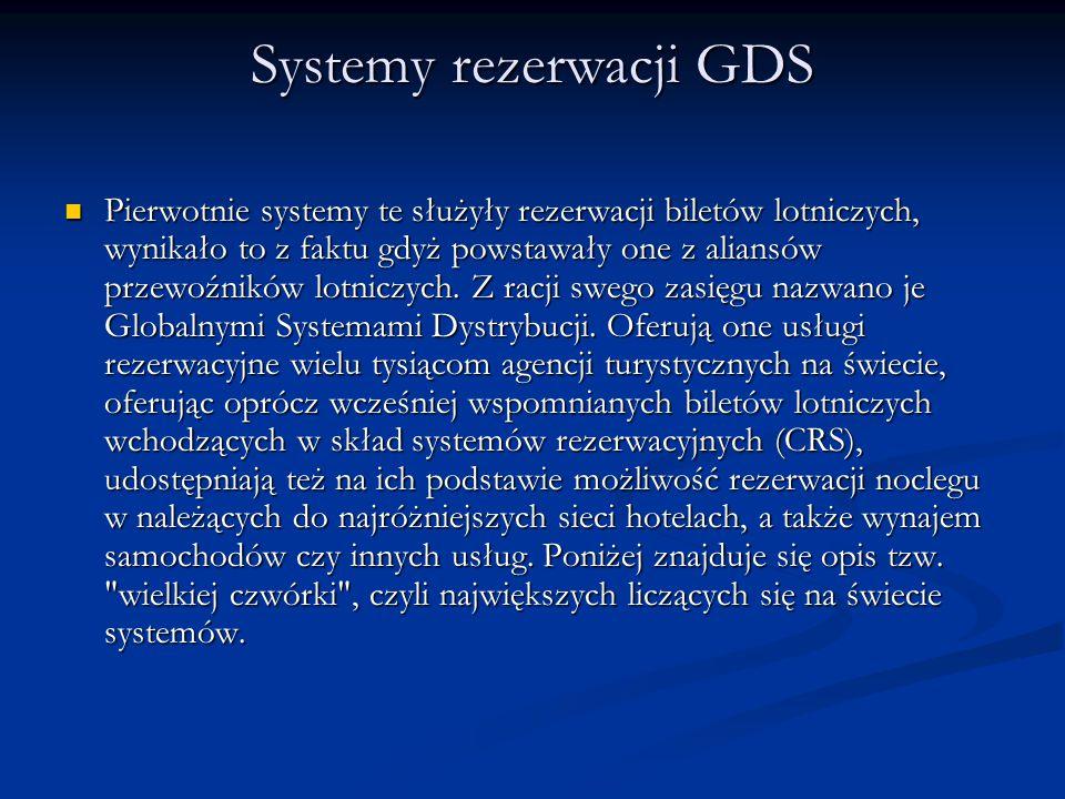 Systemy rezerwacji GDS