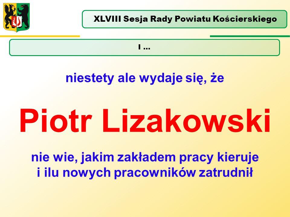 Piotr Lizakowski niestety ale wydaje się, że