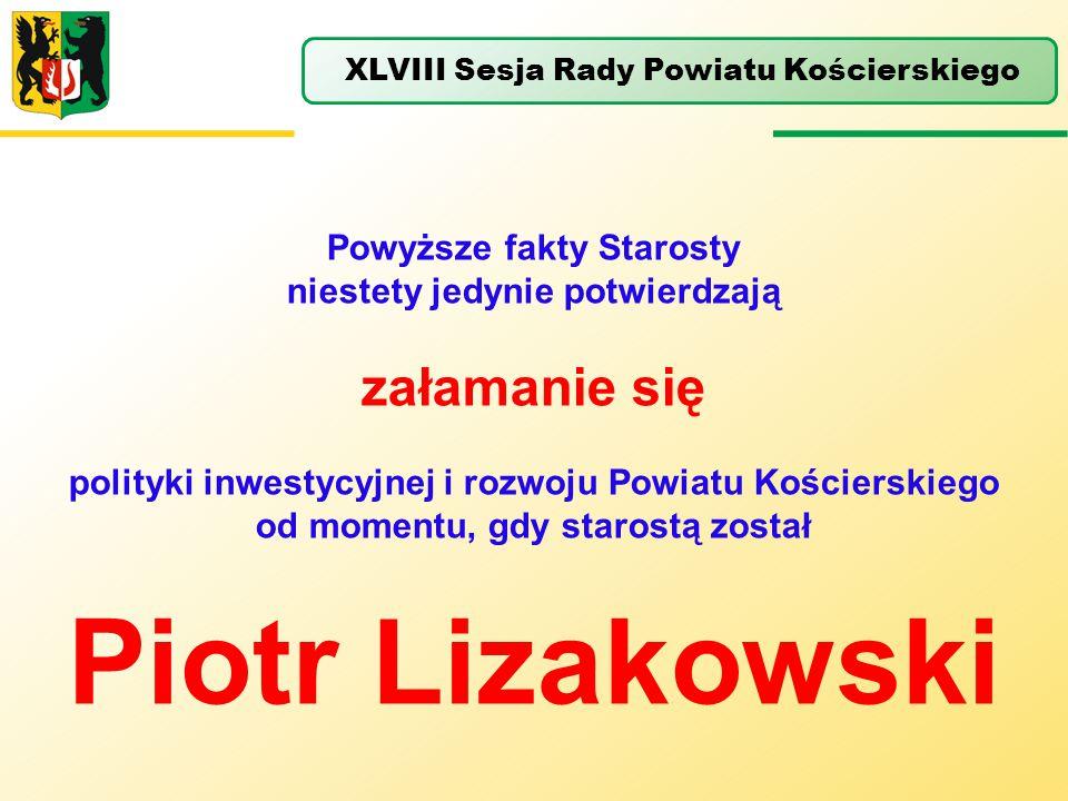 Piotr Lizakowski załamanie się Powyższe fakty Starosty