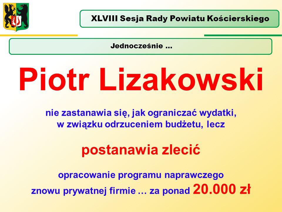 Piotr Lizakowski postanawia zlecić