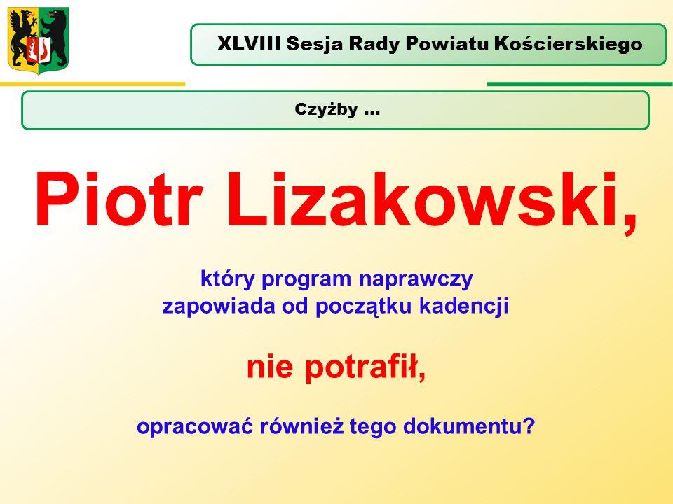 Piotr Lizakowski, nie potrafił, który program naprawczy