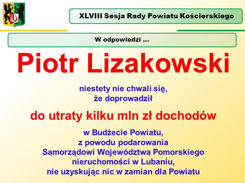 Piotr Lizakowski do utraty kilku mln zł dochodów