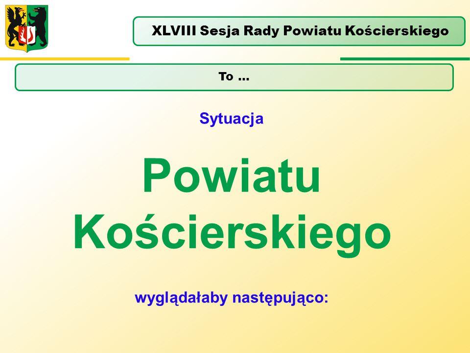 Powiatu Kościerskiego wyglądałaby następująco: