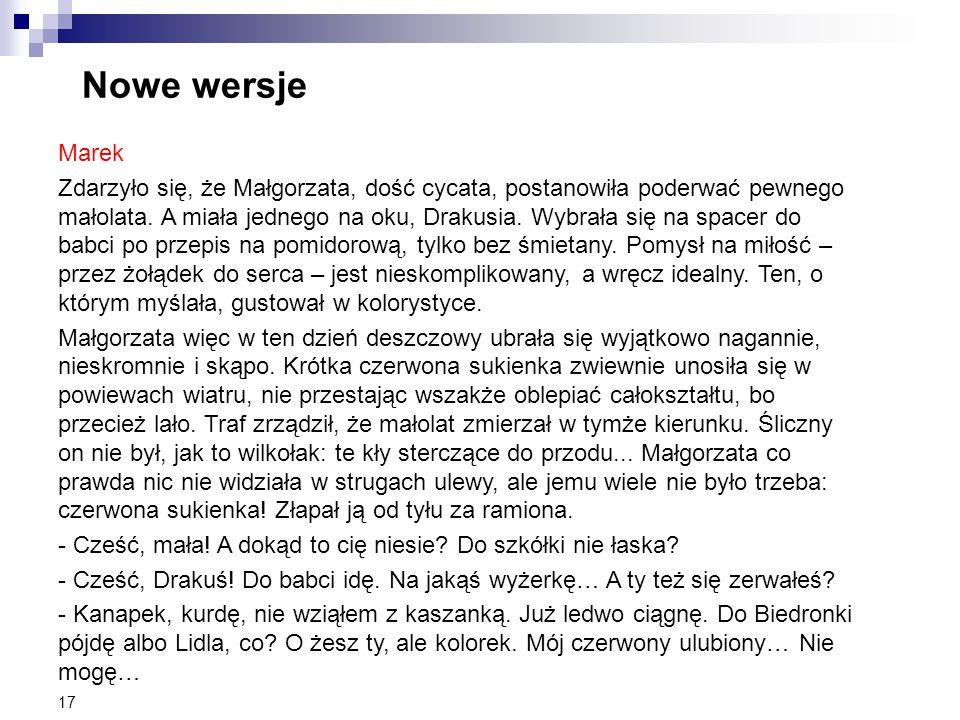 Nowe wersje Marek.