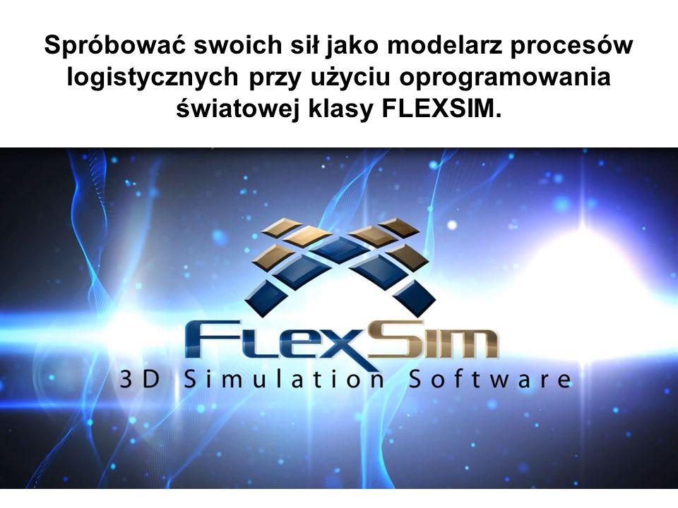 Spróbować swoich sił jako modelarz procesów logistycznych przy użyciu oprogramowania światowej klasy FLEXSIM.