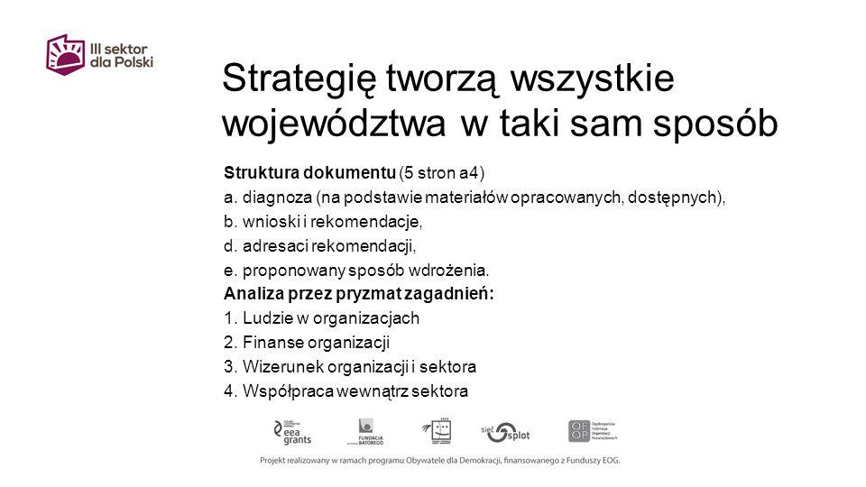 Strategię tworzą wszystkie województwa w taki sam sposób