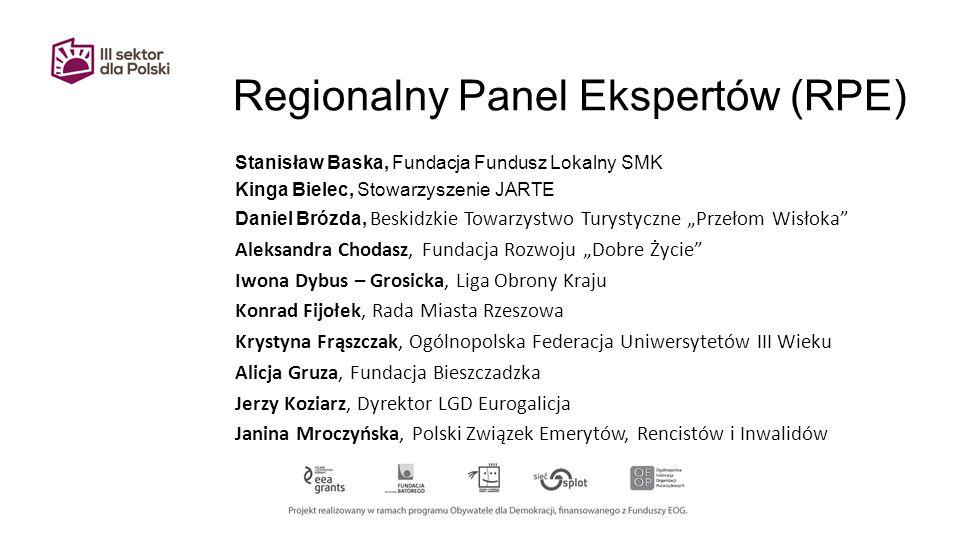 Regionalny Panel Ekspertów (RPE)