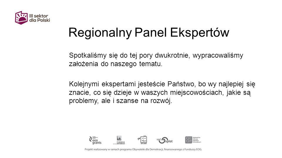 Regionalny Panel Ekspertów