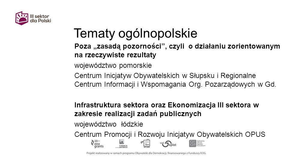 Tematy ogólnopolskie