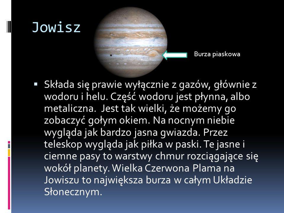Jowisz Burza piaskowa.