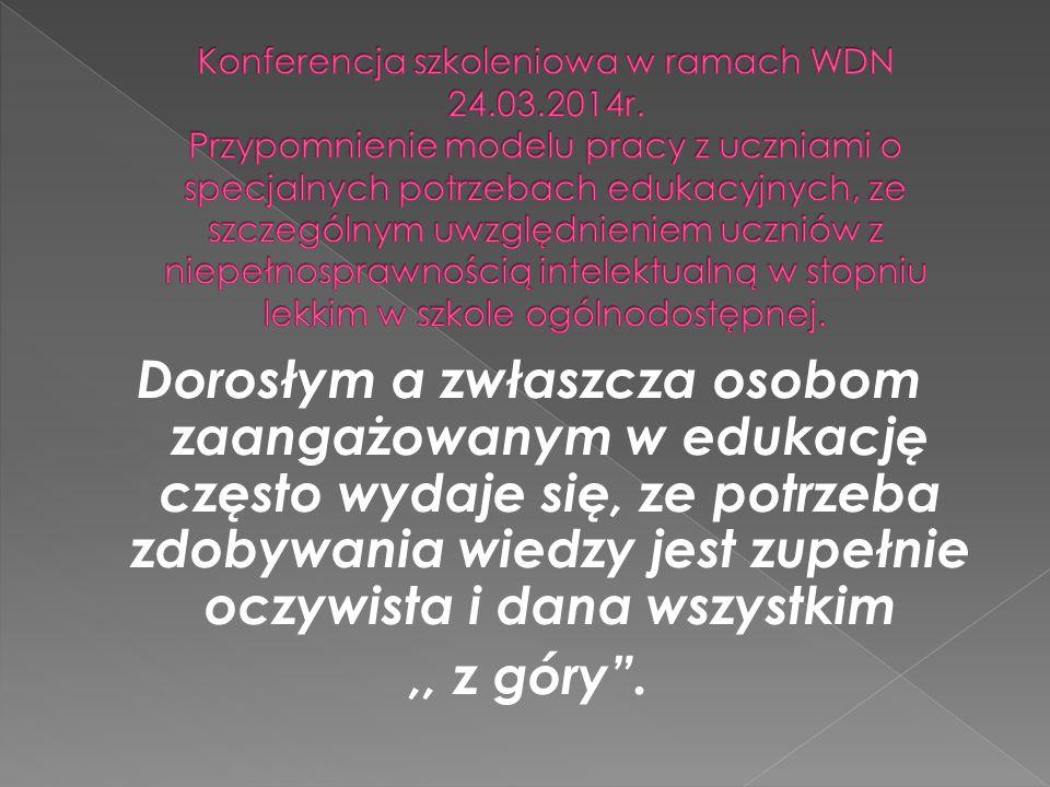 Konferencja szkoleniowa w ramach WDN 24. 03. 2014r